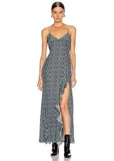 Les Reveries Ruffle Long Cami Dress