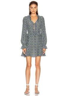 Les Reveries Ruffle Picnic Mini Dress