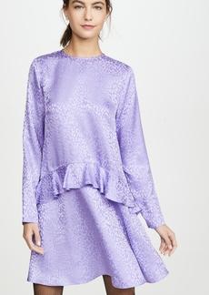 LES REVERIES Ruffle Skirt Mini Dress