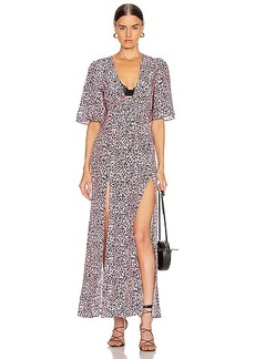 Les Reveries The Front Flutter Sleeve Dress with Slits