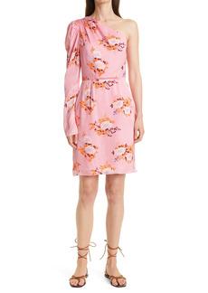 Les Reveries Les Rêveries Floral Print One-Shoulder Dress