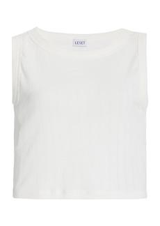 Leset - Women's Pointelle-Knit Cropped Top - White - Moda Operandi