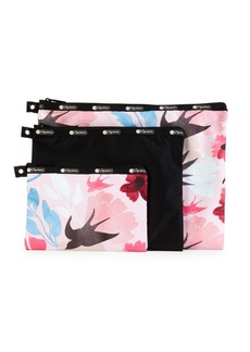 LeSportsac 3-Piece Printed Cosmetic Bag Set