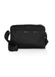 LeSportsac Gabrielle East & West Python-Embossed Satin Shoulder Bag