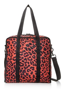 LeSportsac Gabrielle Medium Leopard-Print Nylon Box Tote