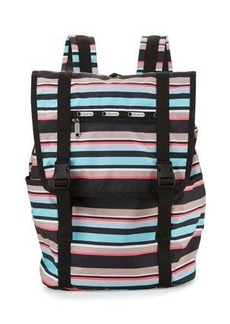 Lesportsac Journey Striped Flap-Top Backpack