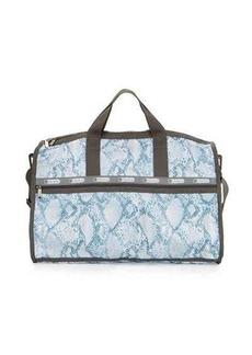 Lesportsac Large Snake-Print Weekender Bag