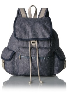 LeSportsac Women's Classic Medium Voyager Backpack Field Denim