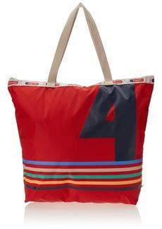 LeSportsac Zip Top Shopper 40th Red