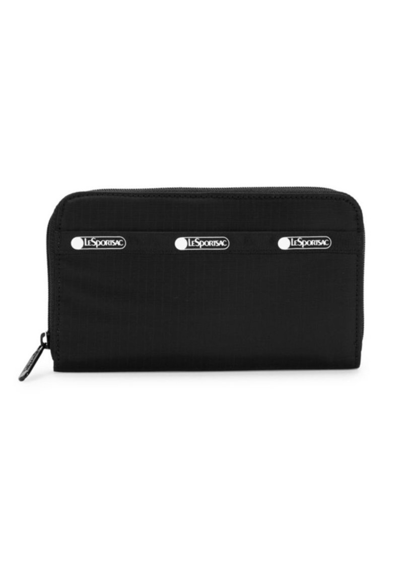 LeSportsac Logo Zip-Around Nylon Pouch