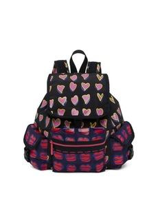 Alber Elbaz x Lesportsac Medium Heart & Lip Print Backpack