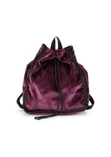 LeSportsac Nadine Velvet Drawstring Backpack
