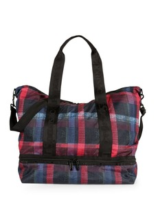 LeSportsac Plaid Zip Tote