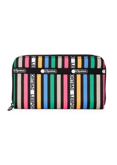 LeSportsac Taylor Striped Zip-Around Wallet