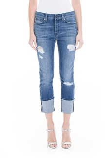 Level 99 Morgan Stretch Distressed Wide Cuff Straight Leg Jeans (Shorefront)