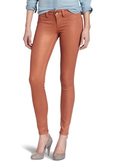 Level 99 Women's Coated Ultra Skinny Jean with Faux Pocket
