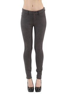 Level 99 Women's Janice Mid Rise Ultra Skinny Suedette Pant