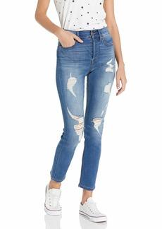 Level 99 Women's Ryan High Rise Button Fly Straight Leg Jean
