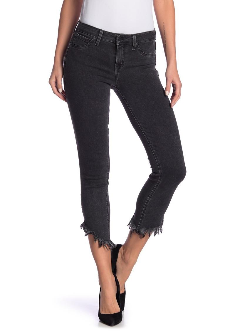 Level 99 Liza Frayed Hem Mid-Rise Jeans