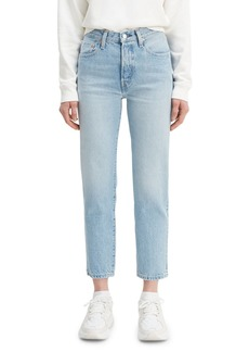 Levi's 501 Crop High-Rise Jeans with Embroidery