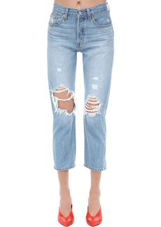 Levi's 501 Crop High Waist Denim Jeans