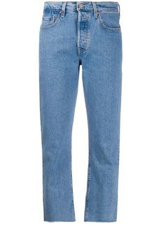 Levi's 501 crop tango beats denim jeans