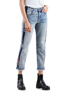 Levi's 501 Cropped Skinny Jeans with Side Panels