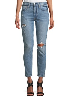 Levi's 501 Distressed Ankle Skinny Jeans