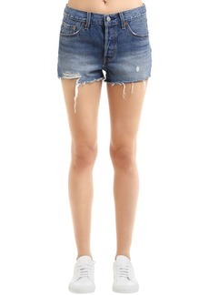 Levi's 501 Distressed Cotton Denim Shorts