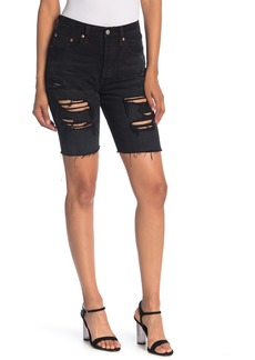 Levi's 501 Distressed Denim Slouch Bermuda Shorts