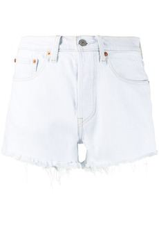 Levi's 501 frayed denim shorts