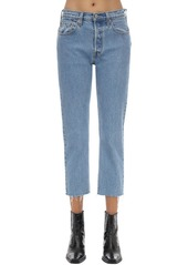 Levi's 501 High Rise Cropped Stretch Jeans
