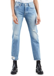 Levi's 501 High-Rise Straight-Leg Cropped Jeans