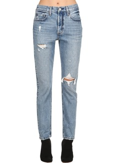 Levi's 501 High Waist Destroyed Denim Jeans