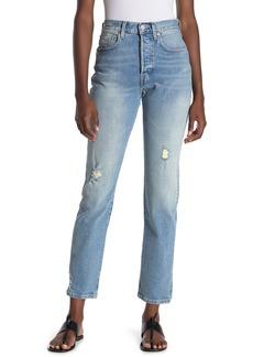 Levi's 501 High Waist Distressed Jeans