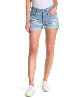 Levi's 501 Mid-Rise Distressed Cuff Shorts