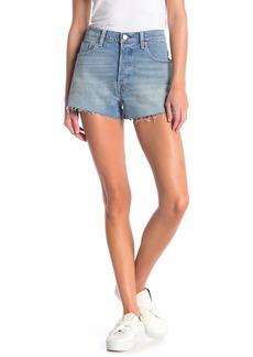 Levi's 501 Mid Rise Raw Hem Shorts