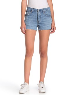 Levi's 501 Mid Rise Raw Shorts