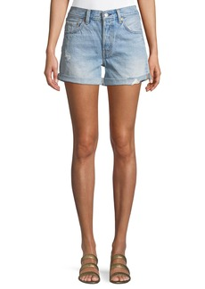 Levi's 501 North Beach Blues Mid-Rise Denim Shorts