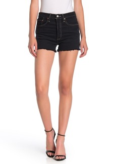 Levi's 501 Original Button Fly High Rise Frayed Shorts
