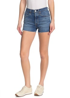 Levi's 501 Original Raw Hem Denim Shorts