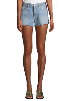 Levi's 501 Side-Stripe Frayed Cutoff Shorts
