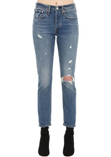Levi's 501 Skinny Cotton Denim Jeans