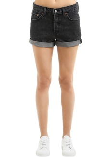 Levi's 501 Stretch Black Washed Denim Shorts