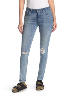 "Levi's 721 Distressed High Waisted Skinny Jeans - 30"" Inseam"