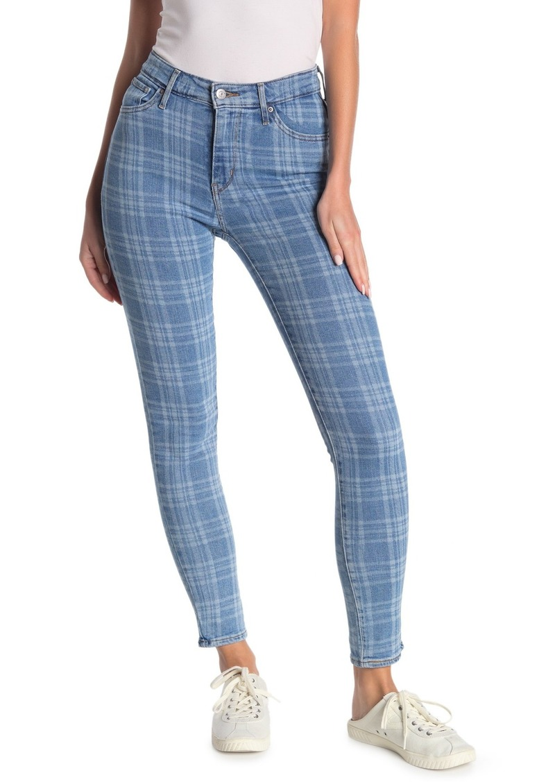 Levi's 721 Plaid High Rise Skinny Jeans