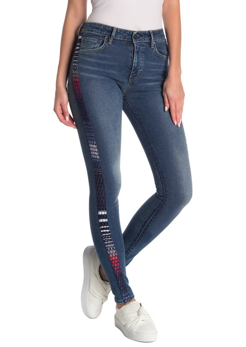 Levi's 721 Striped Skinny Jeans