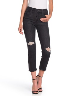 Levi's 724 High Rise Distressed Straight Crop Jeans