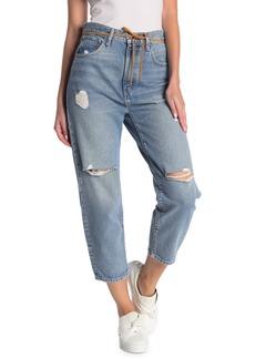 Levi's Barrel High Waist Distressed Crop Jeans