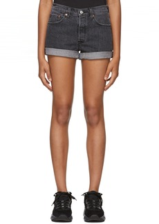 Levi's Black 501 Denim Shorts